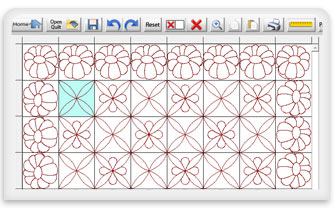 quilt layout screen in Quilter's Crative Design